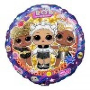 Фольгированный шар Круг 45 см LOL Гламурные подружки (Разноцветный)