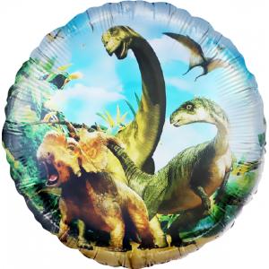Шар (18''/46 см) Круг, Динозавры Юрского периода