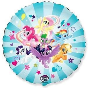 Шар (18''/46 см) Круг, My Little Pony, Дружные Лошадки