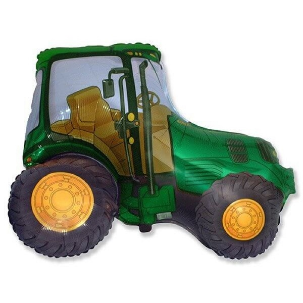Шар (37''/94 см) Фигура, Трактор, Зелёный