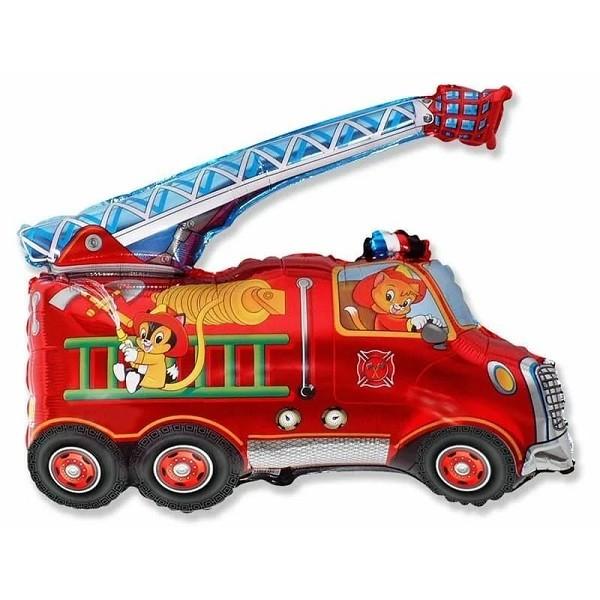 Шар (31''/79 см) Фигура, Пожарная машина, Красный