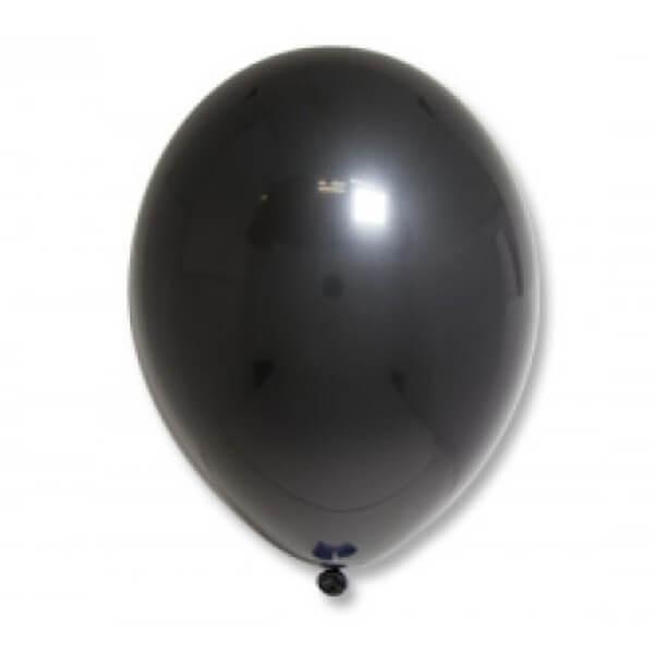 """Латексный шар Пастель Экстра Black 25см 10"""" (Черный)"""