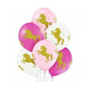 """Латексный шар с рисунком пастель 30см 12"""" (Единорог)"""