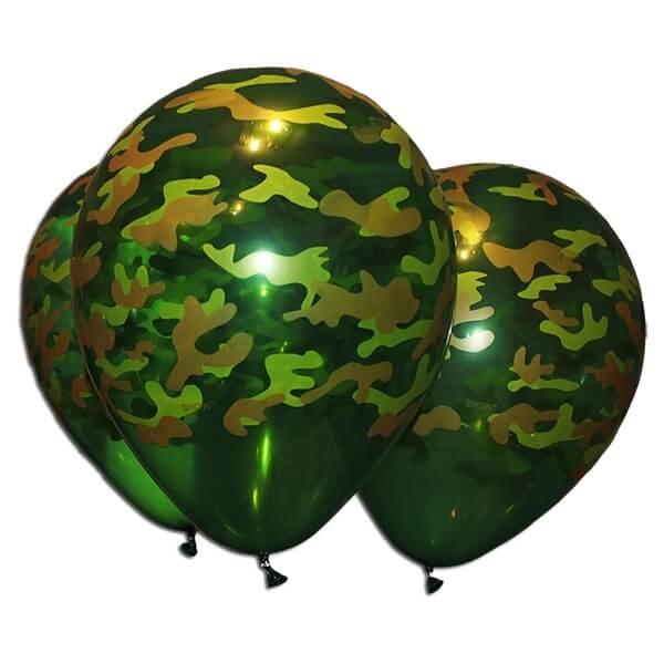 """Латексный шар с рисунком 30см 12"""" (Камуфляж)"""