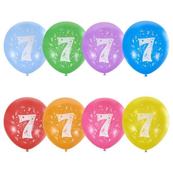 """Латексный шар с рисунком 30см 12"""" (Цифра Семь)"""
