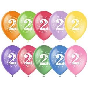 """Латексный шар с рисунком 30см 12"""" (Цифра Два)"""
