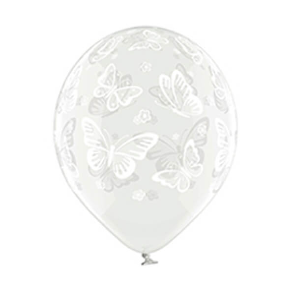 Латексный шар шелкография кристалл (Бабочки)