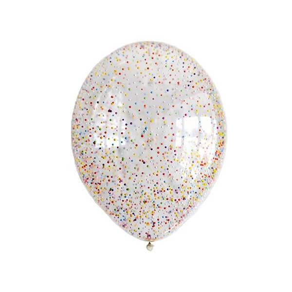 Латексный шар с конфетти 35см (Блестки Ассорти)
