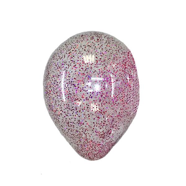 Латексный шар с конфетти 35см (Блестки Фуксия)