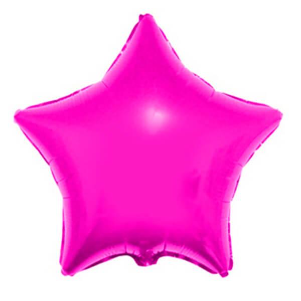 Фольгированный шар Звезда 45 см (Светло-розовый)