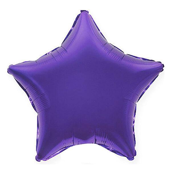 Фольгированный шар Звезда 45 см (Фиолетовый)