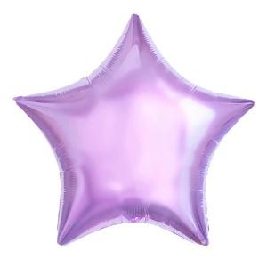 Фольгированный шар Звезда 45 см (Сиреневый)