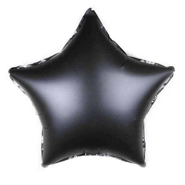 Фольгированный шар Звезда 45 см Пастель (Черный)