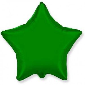Фольгированный шар Звезда 45 см (Зеленый)