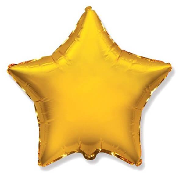 Фольгированный шар Звезда 45 см (Золото)