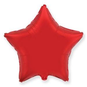 Фольгированный шар Звезда 45 см (Красный)