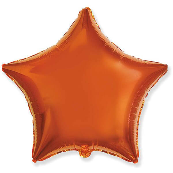Фольгированный шар Звезда 45 см (Оранжевый)