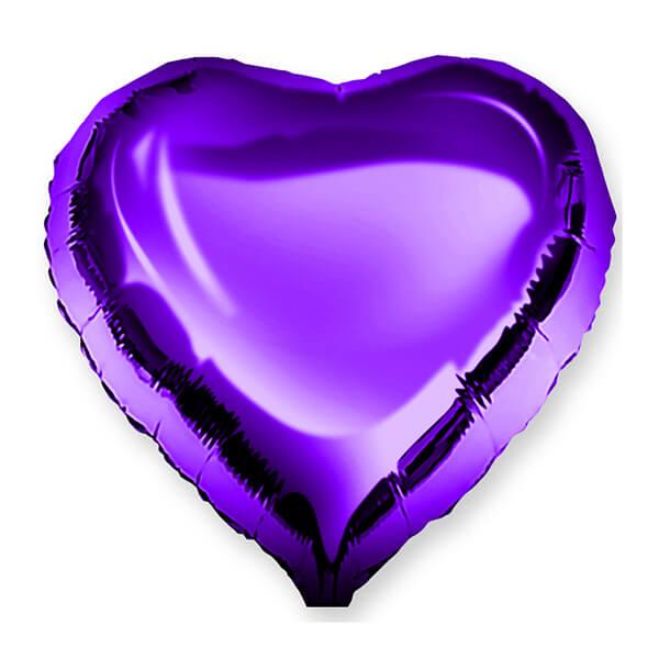 Фольгированный шар Сердце 45 см (Фиолетовый)