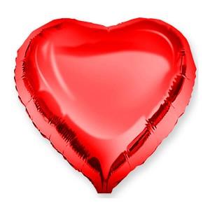 Фольгированный шар Сердце 45 см (Красный)
