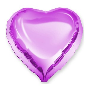 Фольгированный шар Сердце 45 см (Фуше)