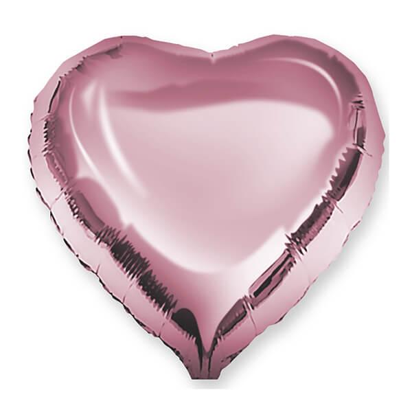 Фольгированный шар Сердце 45 см (Розовый)