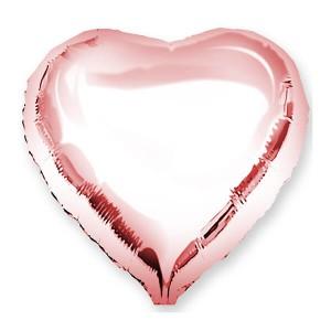 Фольгированный шар Сердце 45 см (Розовое Золото)