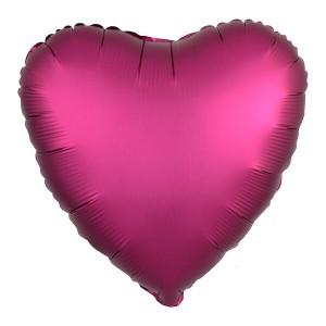 Фольгированный шар Сердце 45 см (Pomegranate)