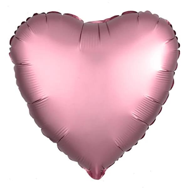 Фольгированный шар Сердце 45 см (Rose Copper)