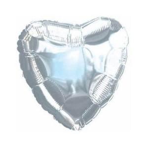 Фольгированный шар Сердце 81 см (Серебро)