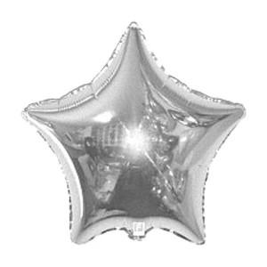 Фольгированный шар Звезда 81 см (Серебро)