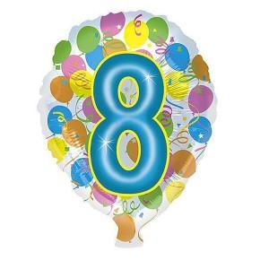 Фольгированный шар 45 см Цифра 8 Шары (Разноцветный)