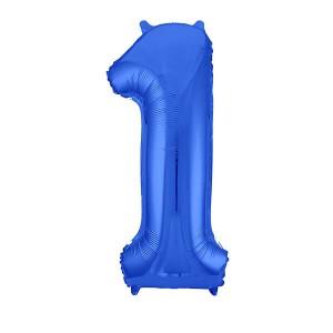 Фольгированный шар 102 см Цифра 1 (Синий)