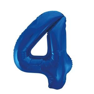 Фольгированный шар 102 см Цифра 4 (Синий)