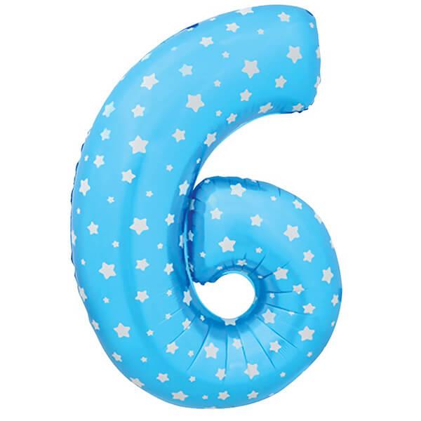 Фольгированный шар 102 см Цифра 6 и 9 (Синий)