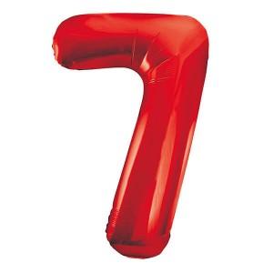 Фольгированный шар 102 см Цифра 7 (Красный)