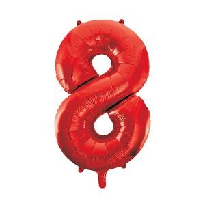 Фольгированный шар 102 см Цифра 8 (Красный)