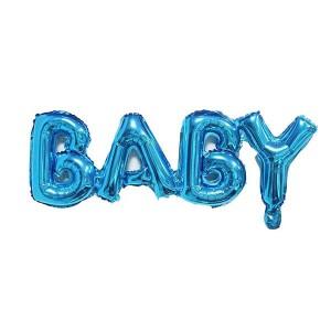 Фольгированный шар 81 см Baby (Синий)