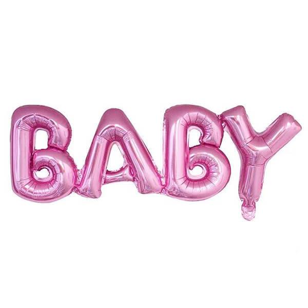 Фольгированный шар 81 см Baby (Розовый)