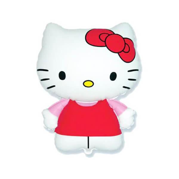 Фольгированный шар 66 см Котенок с бантиком (Розовый)