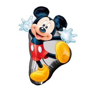 Фольгированный шар Микки танцующий (Черный)