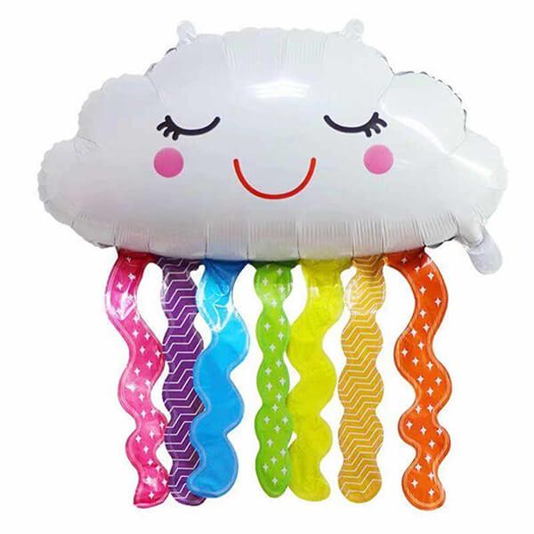 Фольгированный шар 81 см Счастливое облако (Белый)