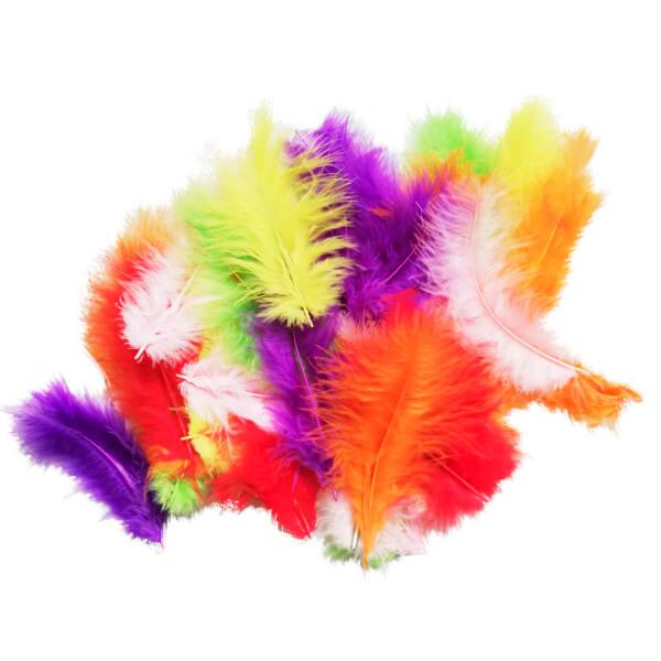 Перья разноцветные 30 шт.