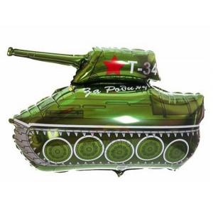Шар (32''/81 см) Фигура, Танк, Зеленый