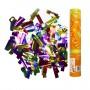 AC 30см Пневмохлопушка в пластиковой тубе фольгированное конфетти