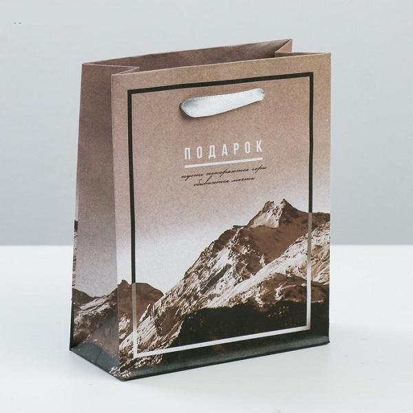 Пакет вертикальный крафтовый «Вдохновенный подарок», S 12 × 15 × 5.5 см