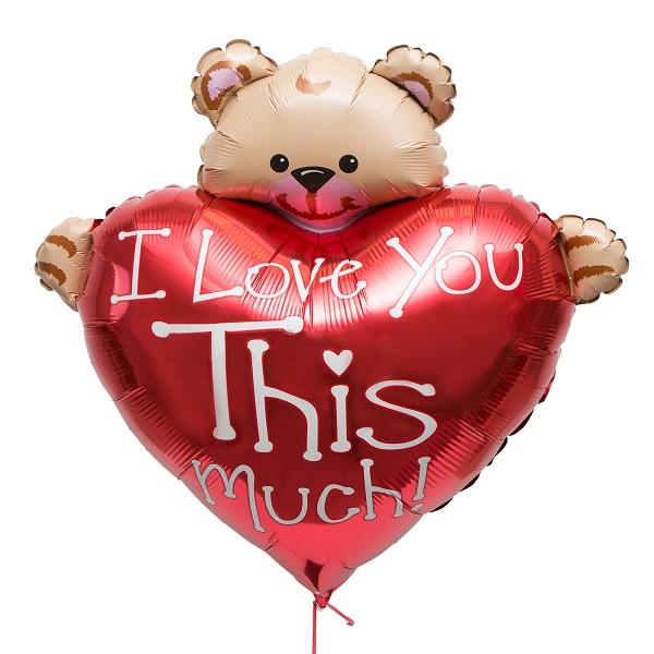 Медвежонок с сердцем (90см/ 90 см)