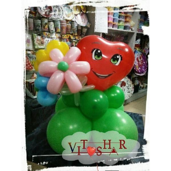 Букет #14 Сердечко с цветами
