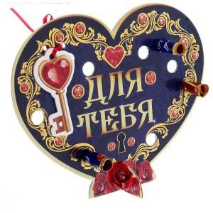 Сердце со свитками «Для тебя», 15,5 см х 19,1 см х 0,3 см