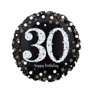 А 18 HB Sparkling Birthday 30 gold S55