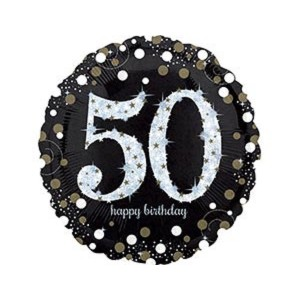 А 18 HB Sparkling Birthday 50 gold S55